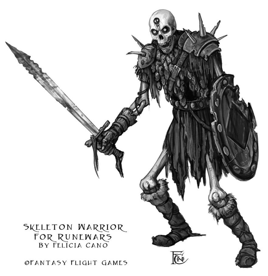 Skeleton Warrior for RuneWars by feliciacano