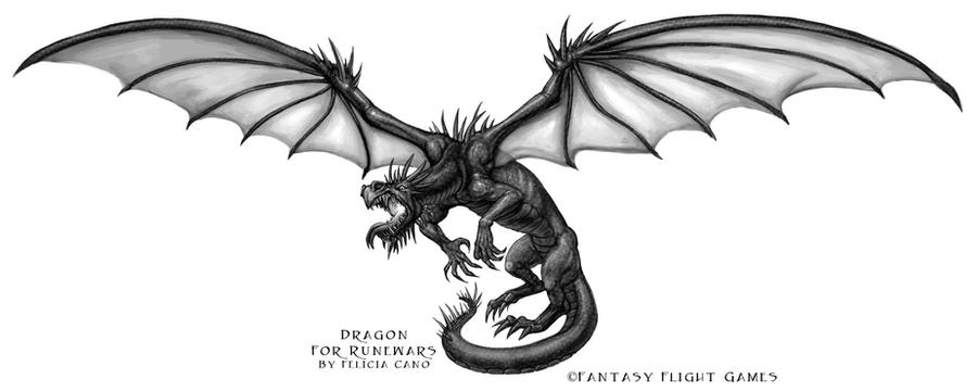 Dragon for RuneWars by feliciacano