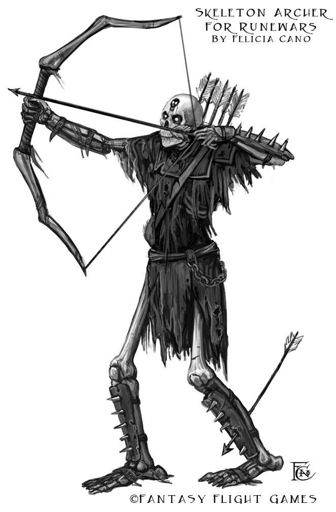 Skeleton Archer for RuneWars by feliciacano