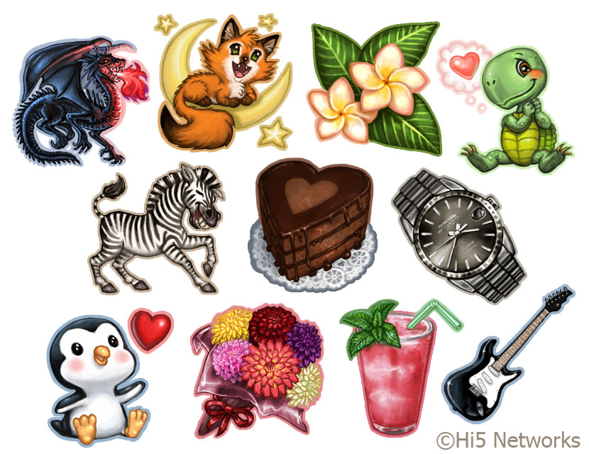 Gifting Icons 3 for Hi5 by feliciacano