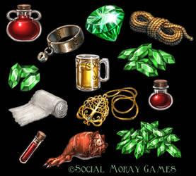 Legend of Spirehold Items 1