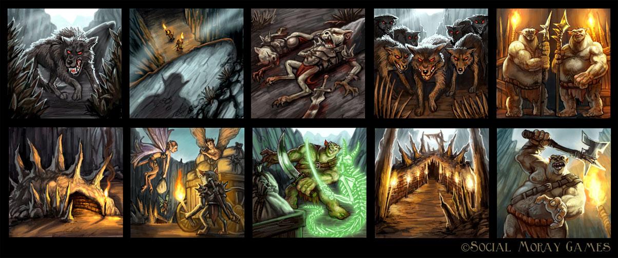 Legend of Spirehold Art 5 by feliciacano