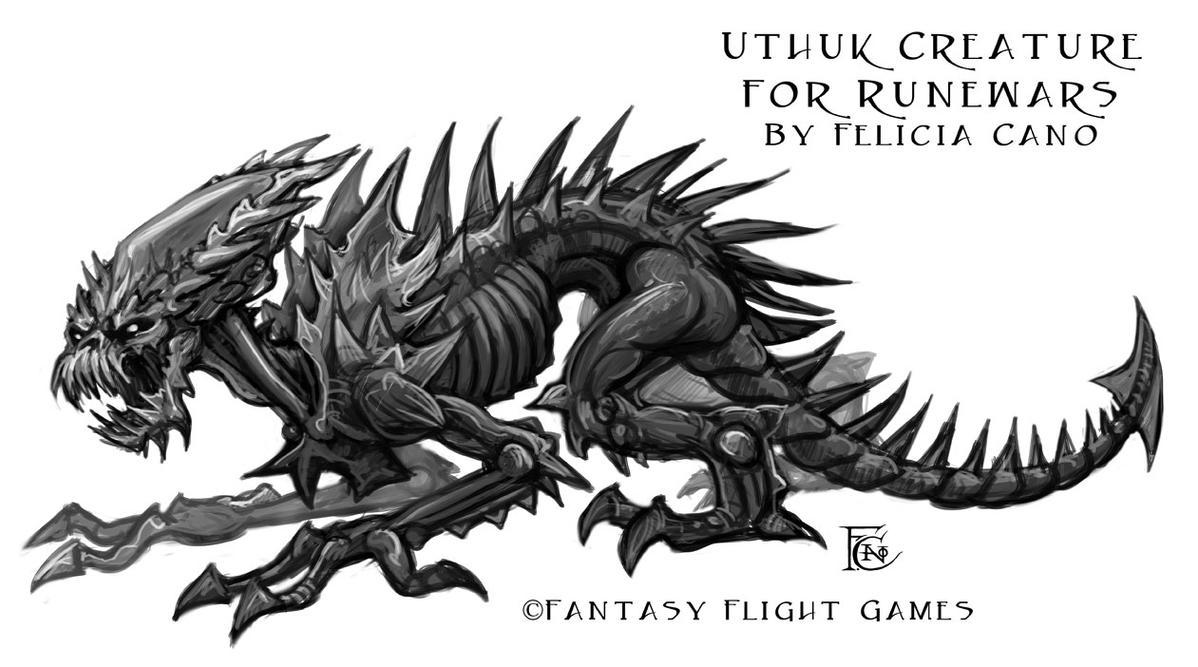 Uthuk Flesh Ripper- RuneWars by feliciacano