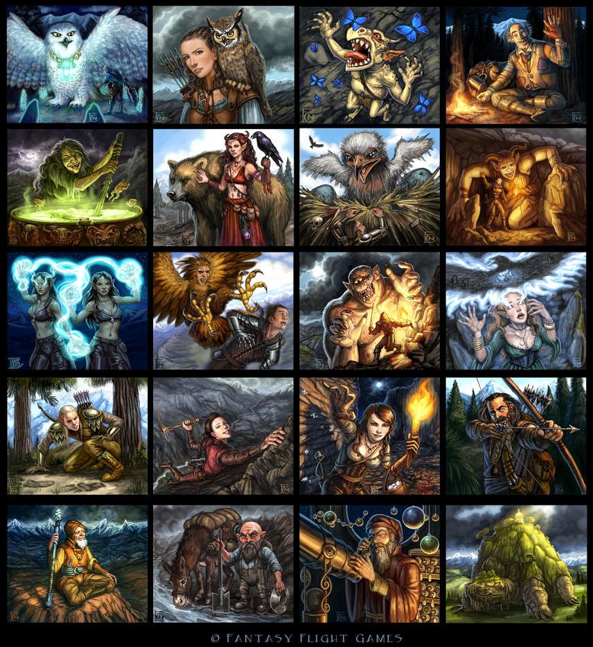 Talisman Highland Cards by feliciacano
