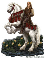 Chivalric Knight for Talisman by feliciacano