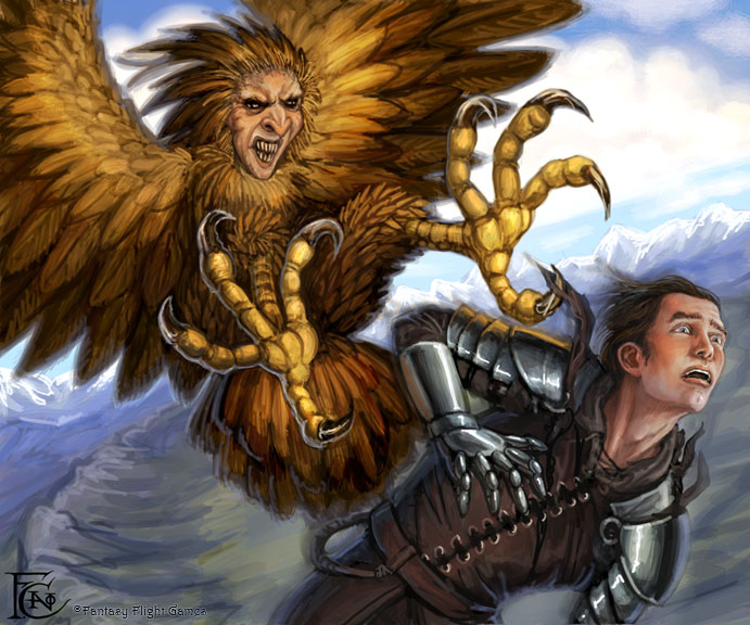 Harpy for Talisman by feliciacano