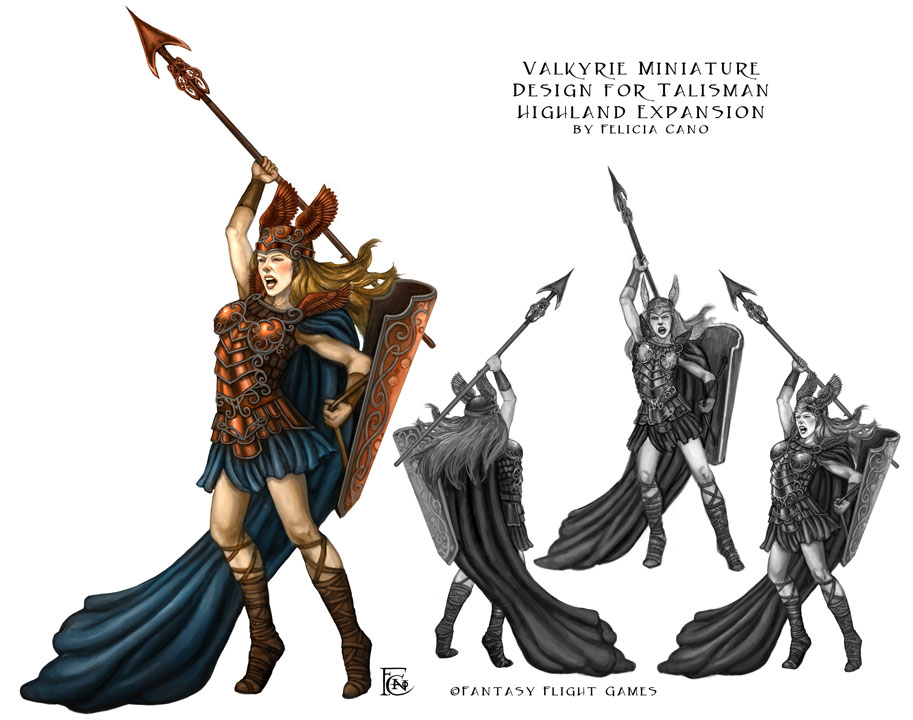 Valkyrie Mini for Talisman by feliciacano