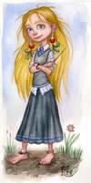 Luna Watercolor Sketch by feliciacano