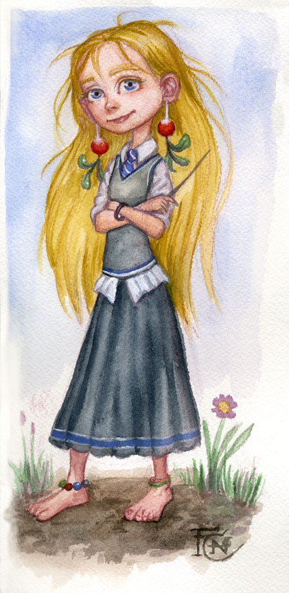 Luna Watercolor Sketch by feliciacano