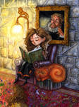 Hermione Reading by feliciacano
