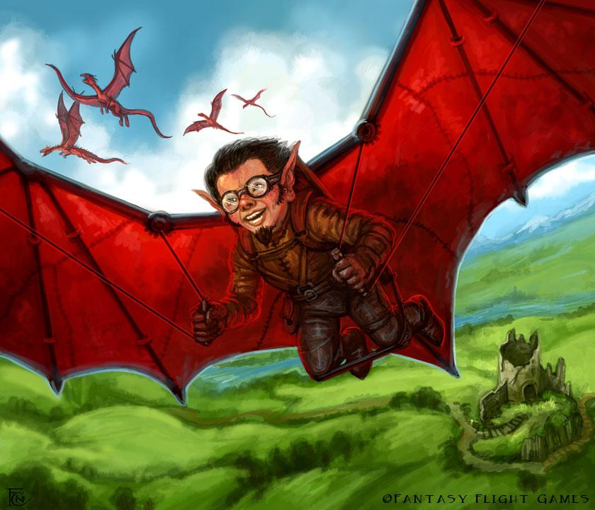 Dragonwing Flyer for Talisman by feliciacano
