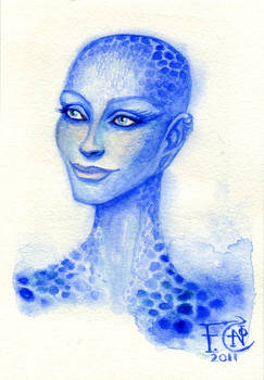 Sketch of Zhaan from Farscape