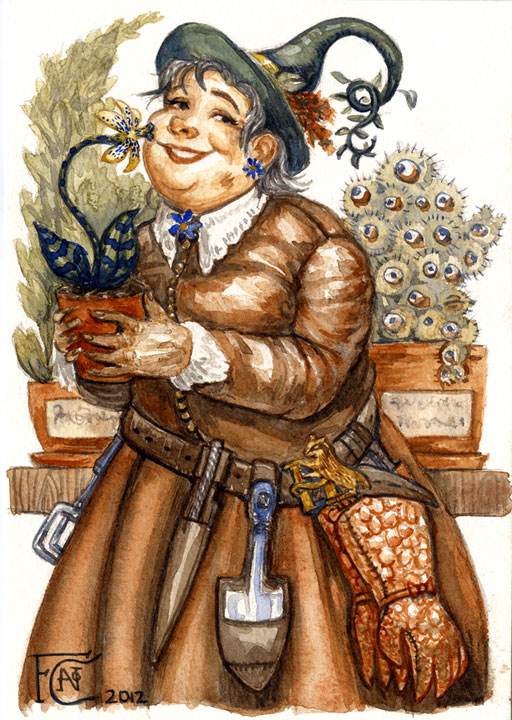 Professor Sprout Sketch by feliciacano