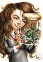Hermione and Rita Sketch by feliciacano