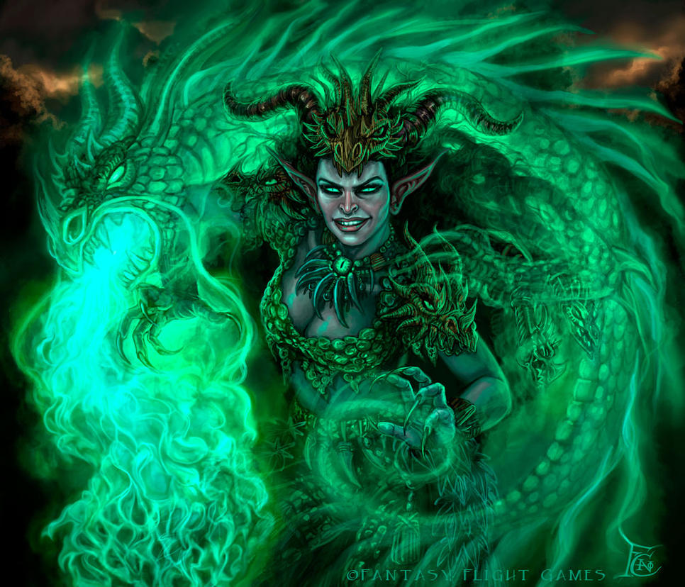Grilipus Druidess for Talisman by feliciacano