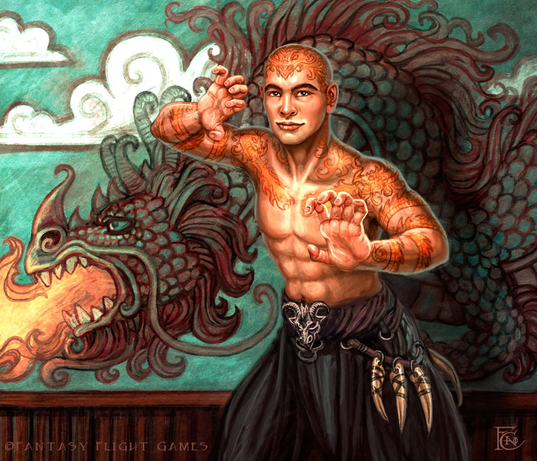 Martial Artist for Talisman by feliciacano