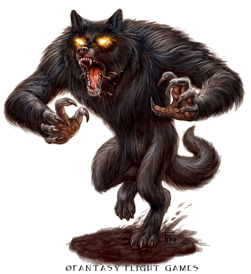 Werewolf Miniature Design for Talisman by feliciacano