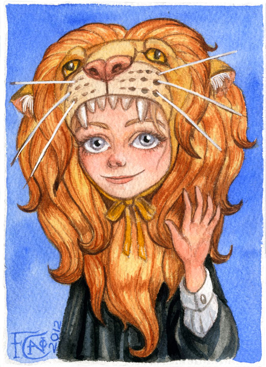 Luna with Gryffindor Lion by feliciacano