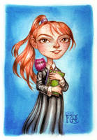 Ginny with Arnold by feliciacano