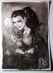 Bellatrix at Hogwarts by feliciacano
