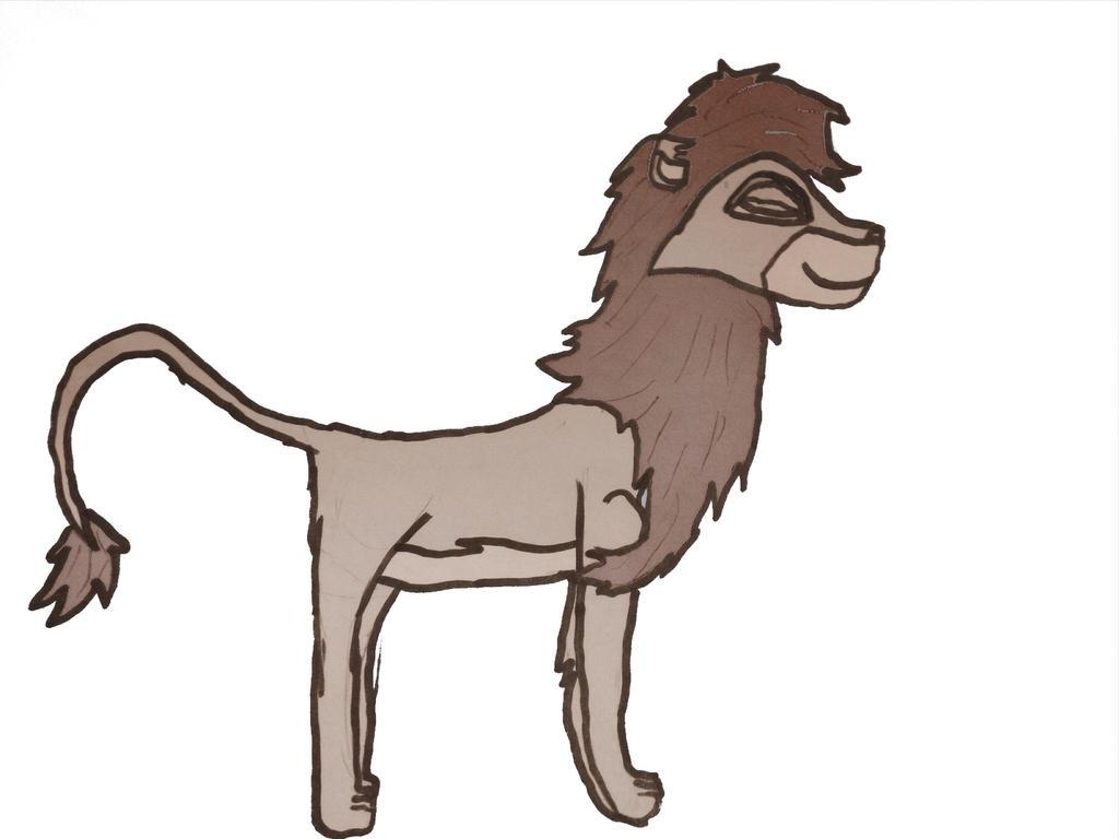 OLD----5- minute sketch: Pleased Mheetu by AvalonLionWolf