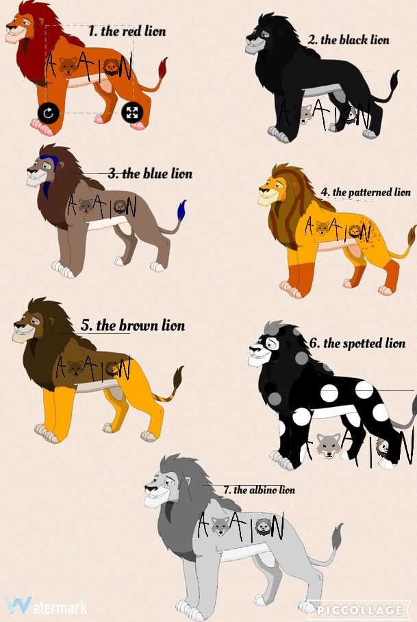 Tlk Adult male Lion adoptables OPEN by AvalonLionWolf