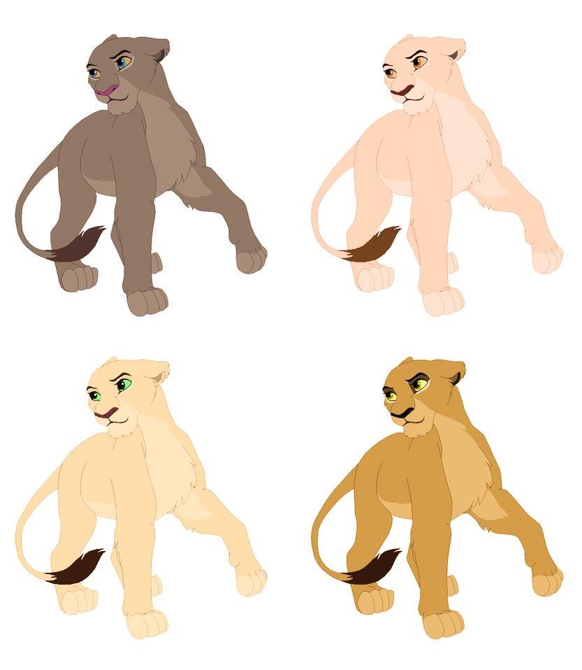 Lioness adoptables Open by AvalonLionWolf