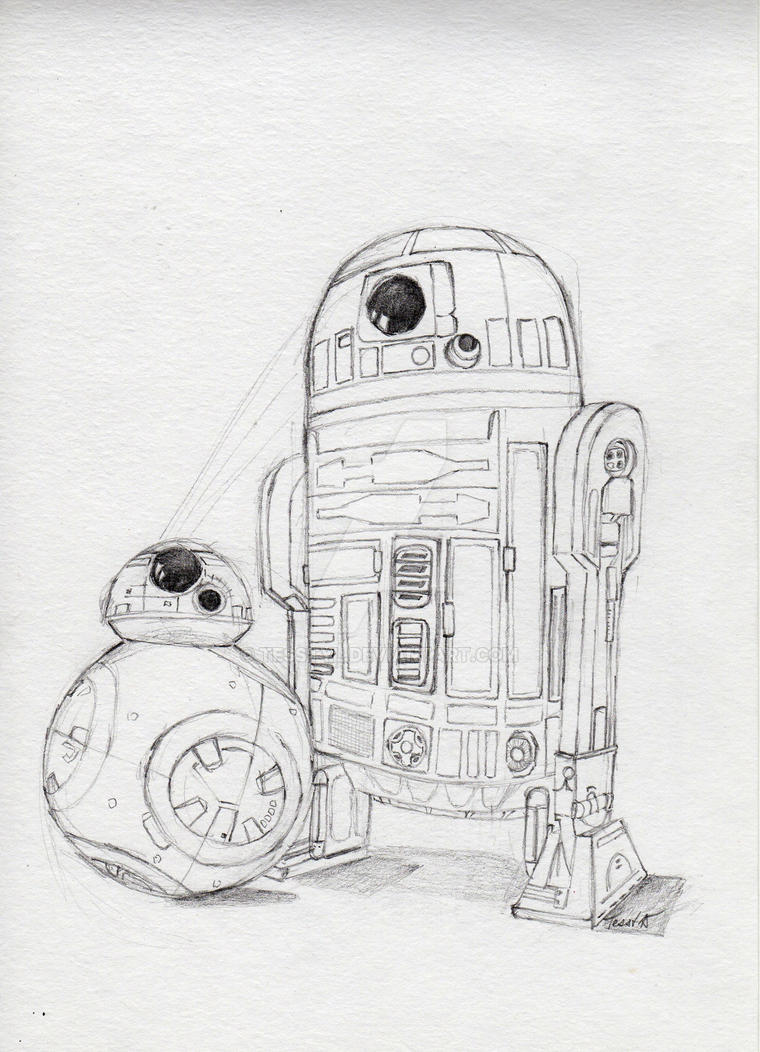Bb 8 coloring pages - Bb8 And R2d2 By Tesstyl