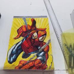 spider man pencil color