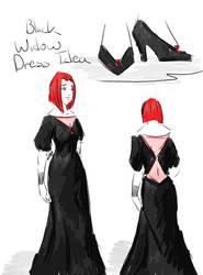 Black Widow Dress Idea by tamara-robitille