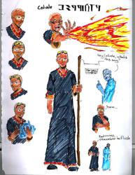 Cedevole, human fire mage by tamara-robitille