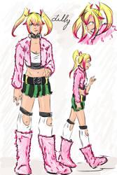 Lilly, older sister of Tesla by tamara-robitille