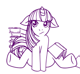 MLP Lineart: Twilight Sparkle by TEWdrop