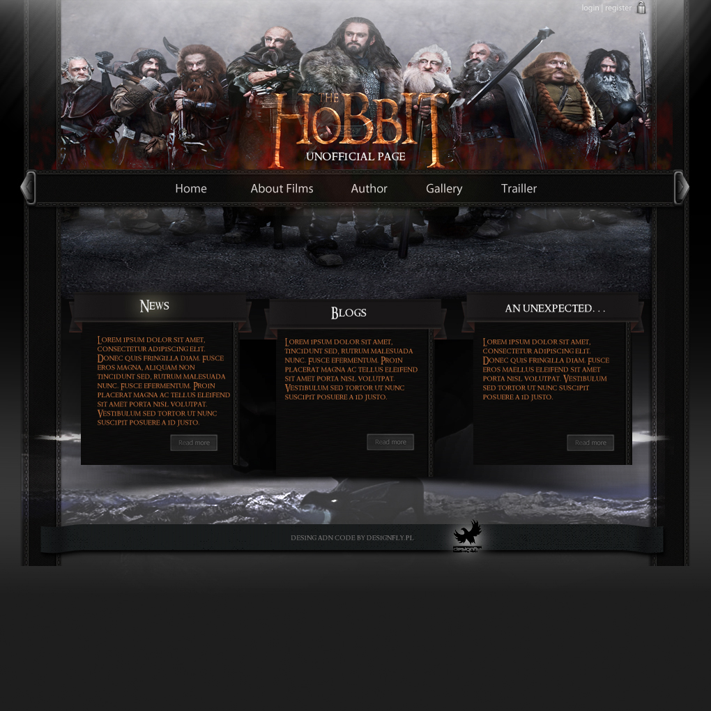 Hobbit1.0 new layout by artwebdesigner