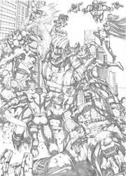 X-men vs Sentinel Commission by MarkMarvida