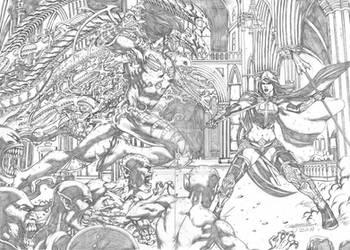 The Darkness vs Magdalene Commission by MarkMarvida