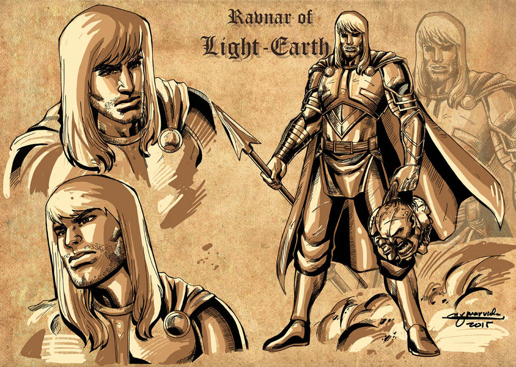 Ravnar of Light-Earth by MarkMarvida