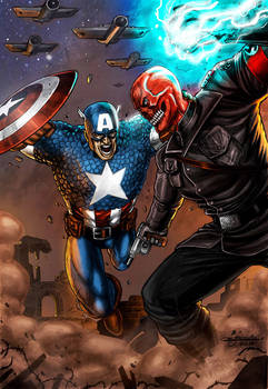 Captain America vs Red Skull Colored