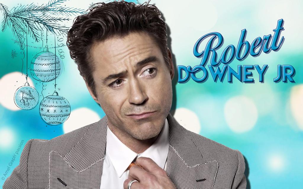 Robert Downey Jr Blue Christmas Wallpaper By Amelcret On Deviantart