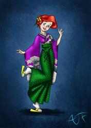 Kimono Disney Princesses : Ariel by Atomicfrog83