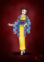 Kimono Disney Princesses : Snow White by Atomicfrog83