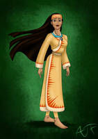 Kimono Disney Princesses : Pocahontas by Atomicfrog83
