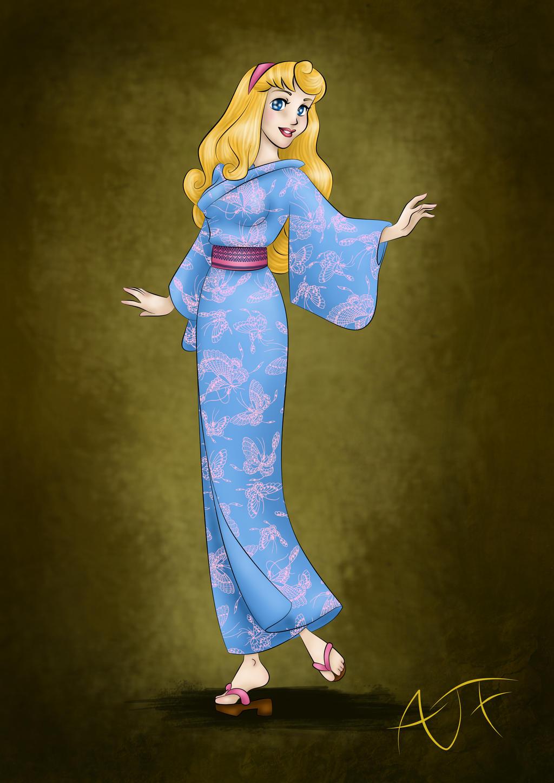 Kimono disney princesses aurore by atomicfrog83 on - Aurore princesse disney ...