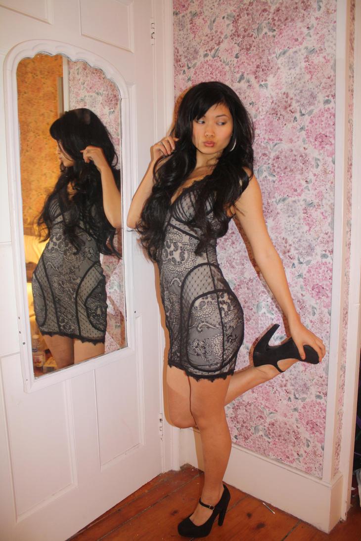 Black dress bebe - Bebe Lace Dress By Ladylemonne