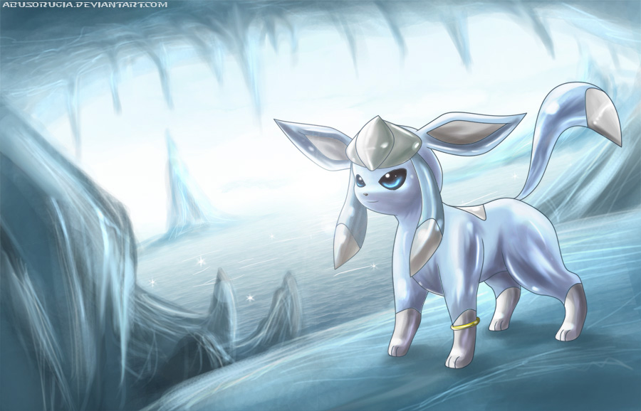 Glaceon ice cave by deruuyo on deviantart - Givrali pokemon ...