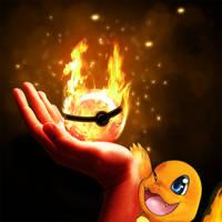 Fire type Pokeball by Deruuyo