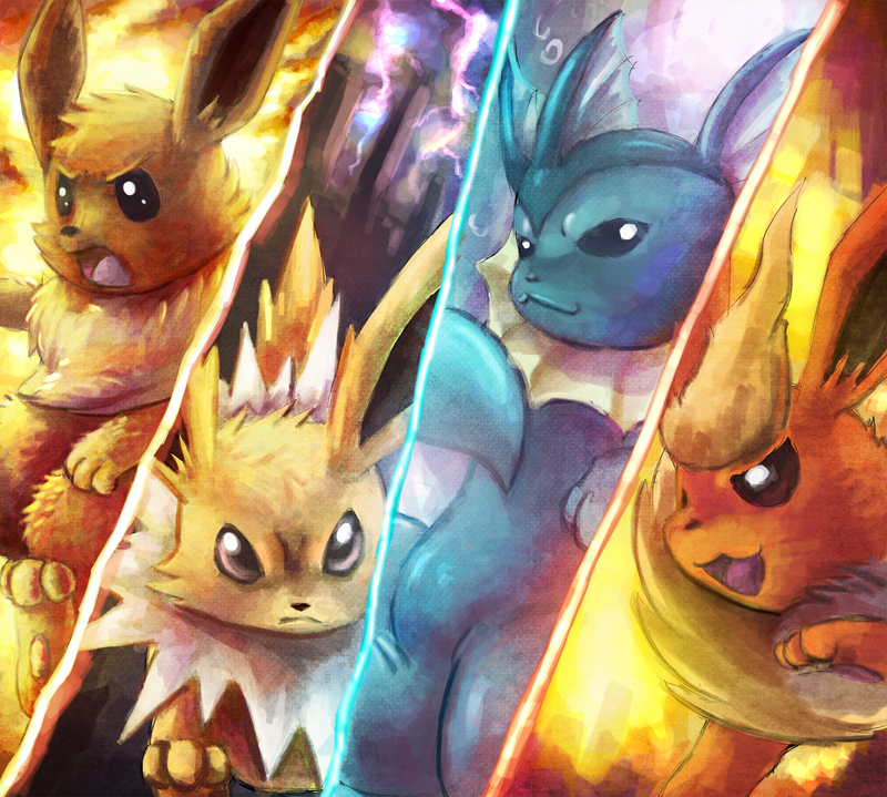 Kanto Eeveelution...STRIKE!! by Deruuyo