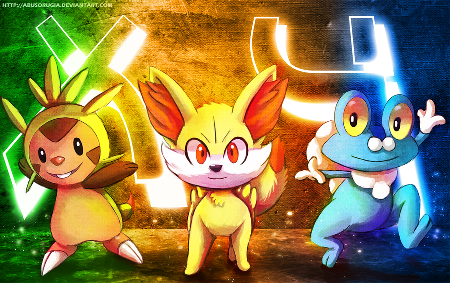 Generation 6 Starters by Deruuyo