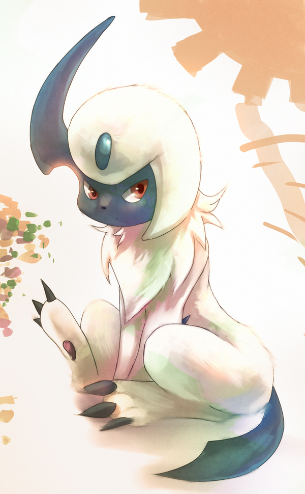 Absol: Sacrificial Endurance by Deruuyo
