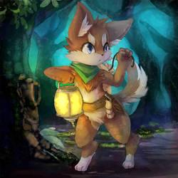 Fox vampire hunter by Deruuyo